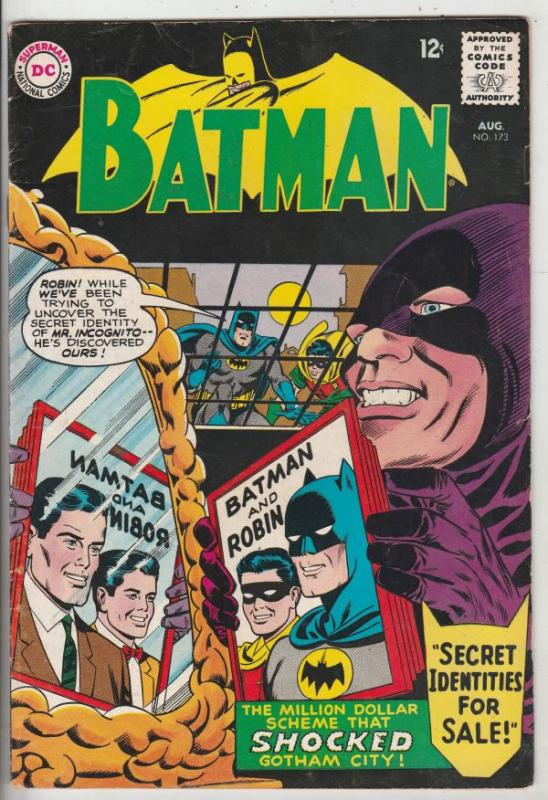 Batman #173 (Aug-65) VF High-Grade Batman, Robin the Boy Wonder