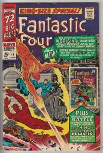 Fantastic Four King-Size Special #4 (Nov-66) VF/NM High-Grade Fantastic Four,...