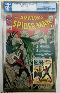 Amazing Spider-Man #2 - 1963 - PGX 7.5 (VF-) Introduction of the Vulture