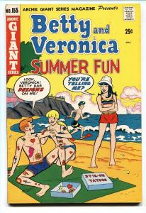 Betty and Veronica Spectacular- Archie Giant #155 1968 Tattoo cover