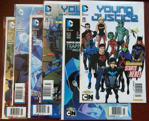 YOUNG JUSTICE #20,21,22,23,24,25 NM NEWSSTAND VARIANT Invasion FULL COMIC SET