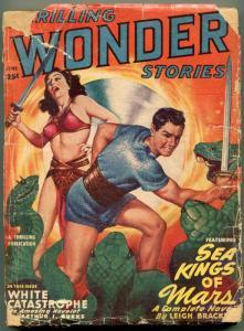 Thrilling Wonder Stories Pulp June 1949- john D MacDonald- Fredric Brown FAIR