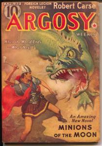Argosy 4/22/1939-Munsey-Rudolph Belarski-Minions of The Moon-VG/FN
