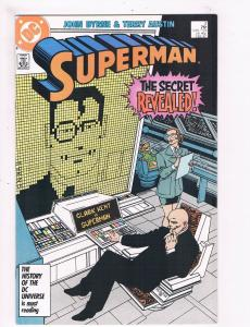 Superman # 2 VF/NM 1st Print DC Copper Age Comic Book John Byrne TC1