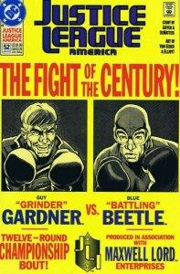 Justice League America #52 ORIGINAL Vintage 1991 DC Comics