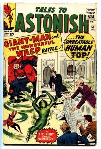 TALES TO ASTONISH #50 comic book 1963-MARVEL-WASP-GIANT-MAN-HUMAN TOP ORIGIN-FN+