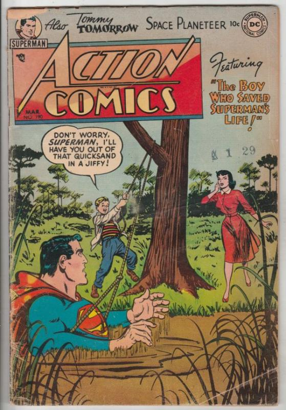 Action Comics #190 (Mar-54) VG+ Affordable-Grade Superman