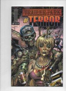 TRAILER PARK OF TERROR #1, NM-, Zombies, Signed Michelle Lee Ed Corbin 2003