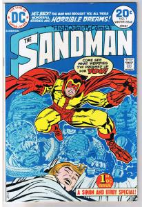 SANDMAN #1,  VF+, Jack Kirby, Joe Simon, Dreams, 1974, more JK in store