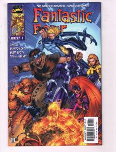 Fantastic Four #8 VF Marvel Comic Book Jim Lee Art Thing Torch 97 DE11