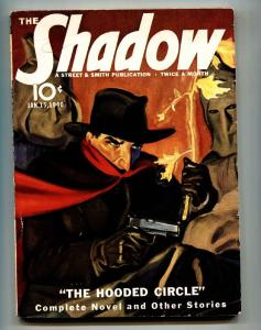 SHADOW 1940 Jan 15- STREET AND SMITH-RARE PULP MAGAZINE FN+