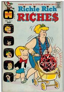 RICHIE RICH RICHES (1972-1982) 3 VG- Nov. 1972 COMICS BOOK