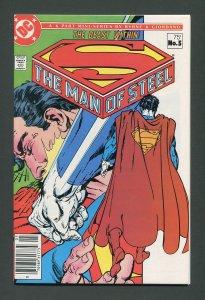 Man of Steel #5 /  9.2 NM-  - 9.4 NM  Newsstand  December 1986