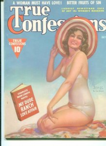 TRUE CONFESSIONS-07/38-VF/NM-COMPLETE NOVEL-BITTER FRUITS OF SIN-BEACH LOV VF/NM