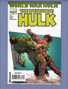 Incredible Hulk #107 VF/NM 2nd Print Variant Cover Marvel 2007
