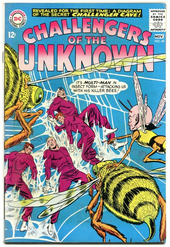 CHALLENGERS OF THE UNKNOWN #40 1964-DC COMICS- CAVE MAP FN / HipComic