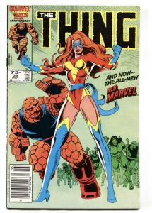 THE THING #35 Newsstand variant 1986 1st appearance new Ms. Marvel