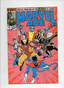 MARVEL AGE #63, VF/NM, X-Men Wolverine Heath, 1985 1988 more Marvel in store