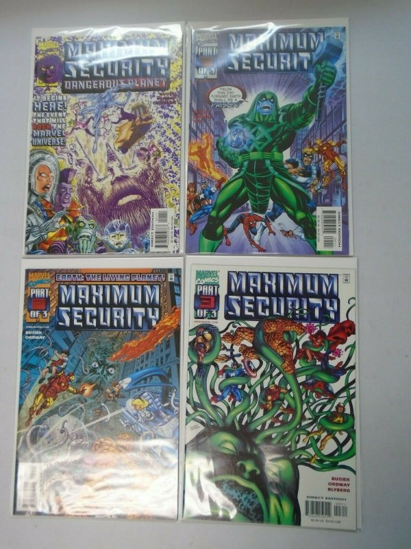 Marvel Maximum Security Set: #1-3 + Bonus Near Mint (2000)