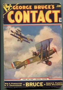 GEORGE BRUCE'S CONTACT 06/1934-WWI-BI-PLANE-FRANK TINSLEY-vg/fn