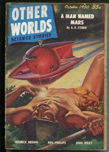 Other Worlds #7 10/1950 Clark Pub-sci-fi pulp-Neil Austen-Bill Terry-FR/G