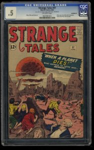 Strange Tales #97 CGC P 0.5 Off White Aunt May & Uncle Ben Prototype!