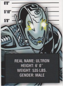 2015 Avengers Silver Age Trading Cards-Classic Villains #CV12 Ultron