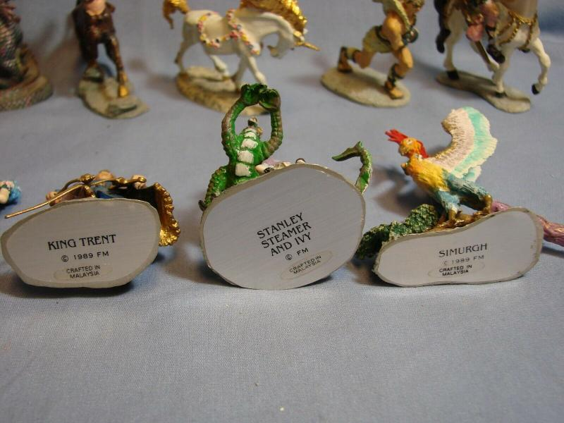 1989 Franklin Mint ENCHANTED MOUNTAIN Pewter Miniatures XANTH PIERS ANTHONY RARE