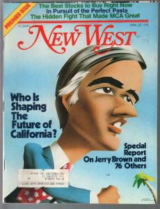 New West #1 4/26/1976-1st issue-Jerry Brown-pix-stories-info-VF
