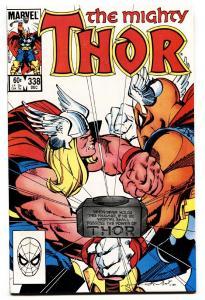 THOR #338-comic book BETA RAY BILL-MARVEL-NM-