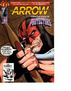 Lot Of 2 Comic Books Malibu Arrow #1 and Malibu Breed II #1 MS20