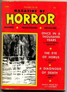 MAGAZINE OF HORROR-BIZARRE-GRUESOME--H P LOVECRAFT----#24---NOV 1968