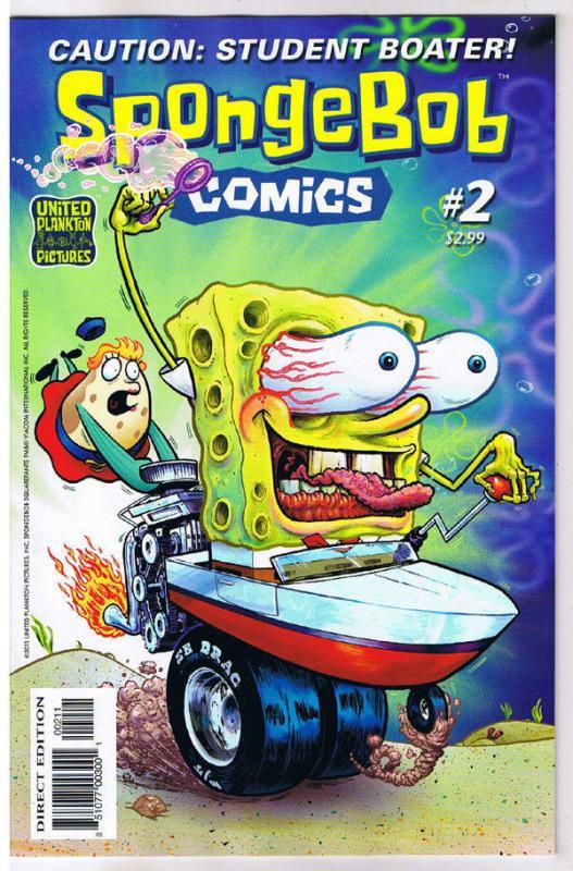 SPONGEBOB #2, NM, Square pants, Bongo, Cartoon comic, 2011, more in store