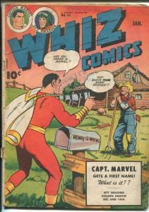 WHIZ #61 1945-FAWCETT-CAPT MARVEL-GOLDEN ARROW-IBIS-SPY SMASHER-vg minus