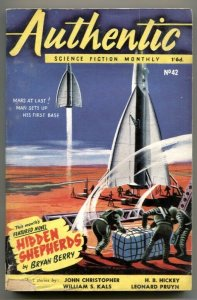 Authentic Science Fiction Monthly February 1954- Hidden Shepherds