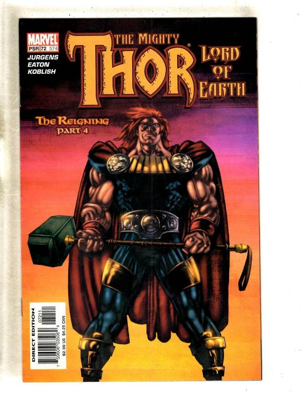10 Mighty Thor Marvel Comic Books # 566 567 568 570 571 573 574 575 576 578 MF20