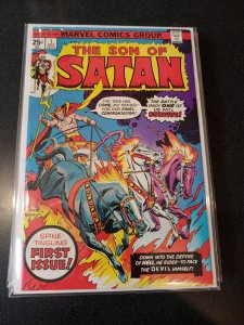 ​SON OF SATAN #1 VF BRONZE AGE MARVEL! SPINE-TINGLING FIRST ISSUE!