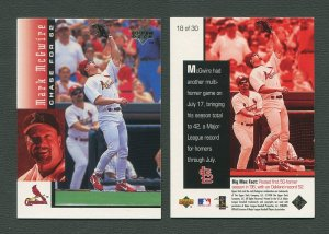 1998 Upperdeck Mark McGwire HR Commemorative Card / MINT