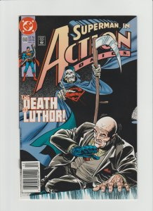 Action Comics #660 VF 8.0 Newsstand Variant!