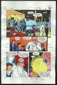 ROBIN #4-1990 PRODUCTION ART-COLOR GUIDE PG 8-TOM KYLE VG