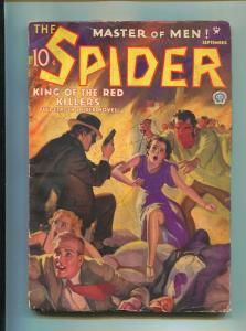 SPIDER SEPTEMBER 1935-POPULAR PUBLISHING-JOHN HOWITT-VG+