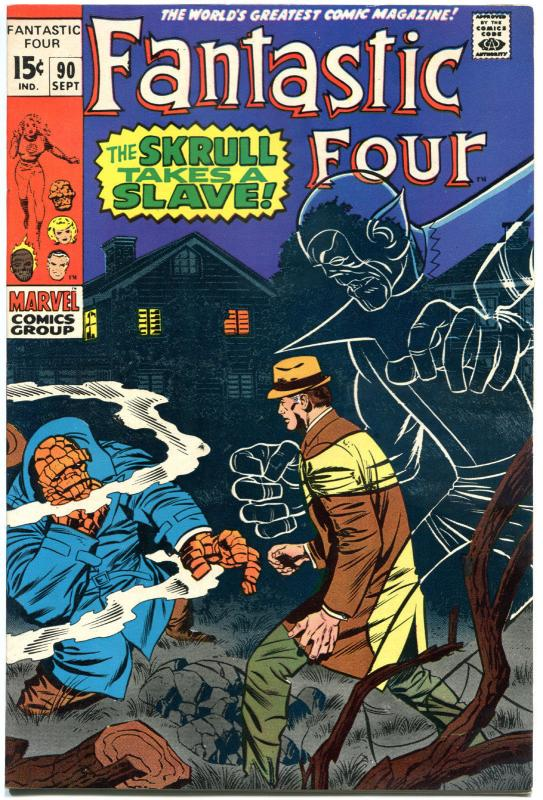 FANTASTIC FOUR #90, VF+, Slave, Skrull, Jack Kirby, 1961, more in store, QXT