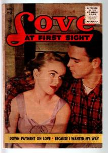 LOVE AT FIRST SIGHT #36-1955-PHOTO COVER-ACE-VG-ROMANCE VG