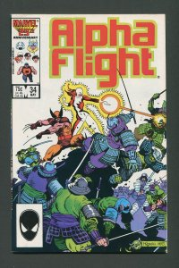 Alpha Flight #34  9.0 VFN/NM   May 1986