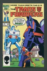 Transformers #20  / 8.5 VFN+   September 1986