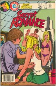 Secret Romance #48 1980-spicy Bolles cover-headlights-provocative poses-FN/VF