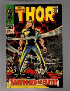 THOR 145 FINE MINUS  October 1967 COMICS BOOK