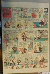 Bringing Up Father Sunday by George McManus from  12/3/1944 Full Page Size!