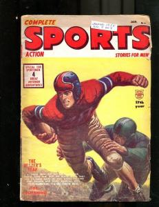 COMPLETE SPORTS PULP-JANUARY-1955-FOOTBALL-AUTO RACING! G/VG