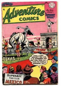 ADVENTURE COMICS #209 1955-SUPERBOY-GREEN ARROW-AQUAMAN-SPEEDY ORIGIN-VG-